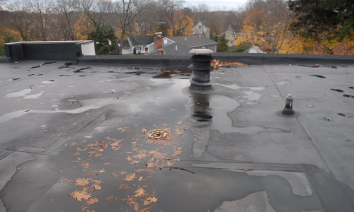 quality roofing leaking flat roof