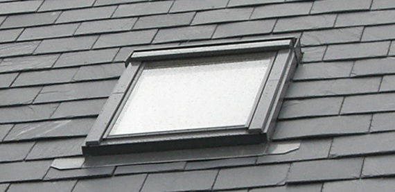 velux window in slate roof mapperley house