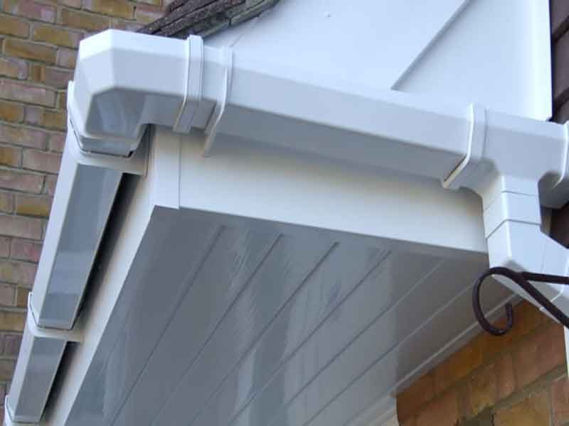 square gutter with upvc soffits and fascia hucknall