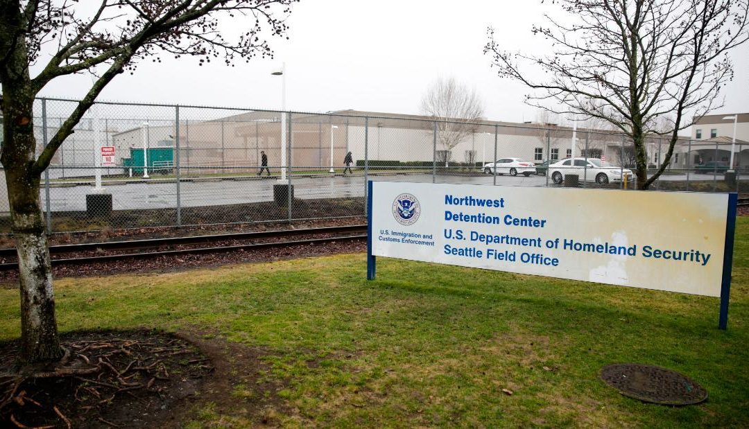 Armed man fatally shot by police outside ICE facility