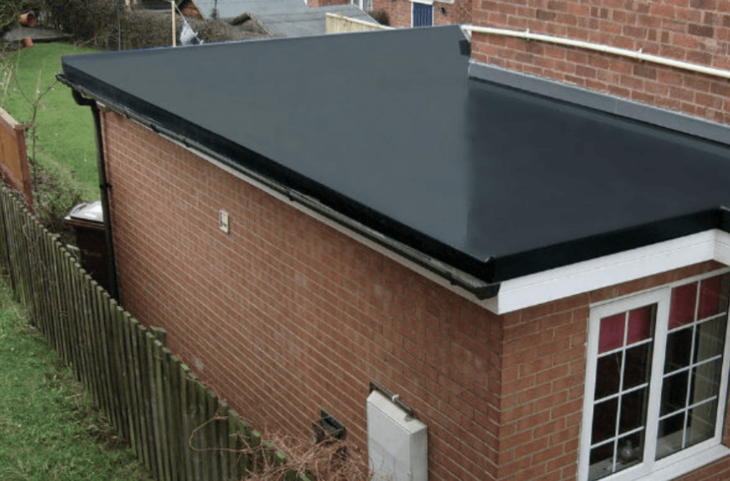 new epdm roof installed for Mapperley house